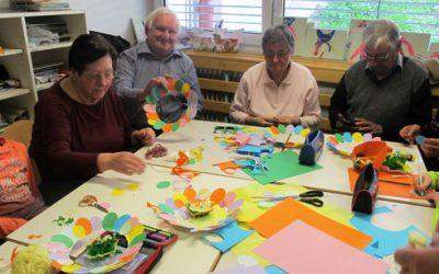 Ustvarjalne delavnice za babice in dedke v 1. razredih OPB