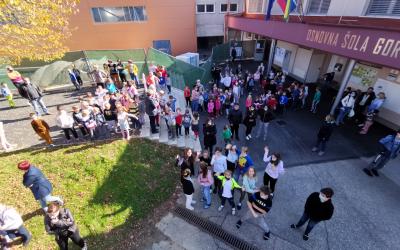 Uspešno izvedena poskusna evakuacija šole